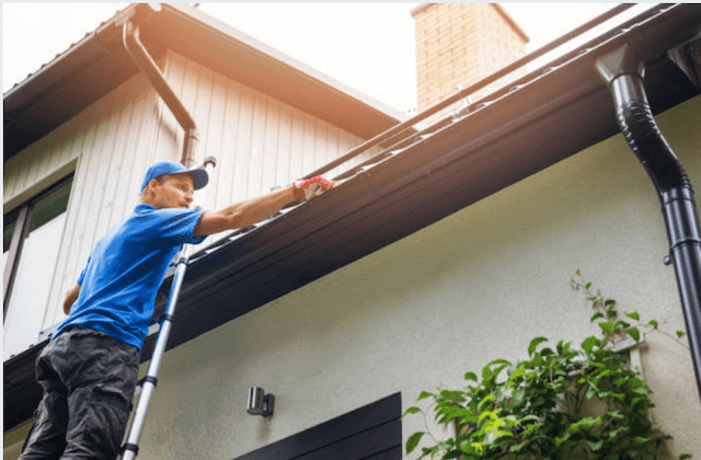 gutter cleaning in Slinger