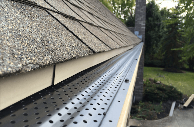 gutter guard installation in Hudson